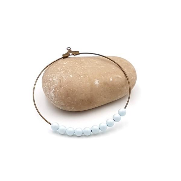 10 Perles Swarovski 4mm Pastel Blue Pearl - Photo n°1