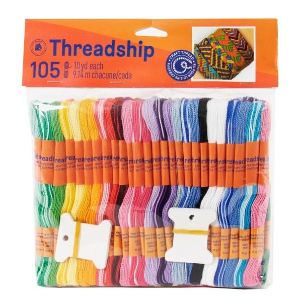 Pack de fils coton Monobrin - Bracelet brésilien - 105 pcs - Photo n°1