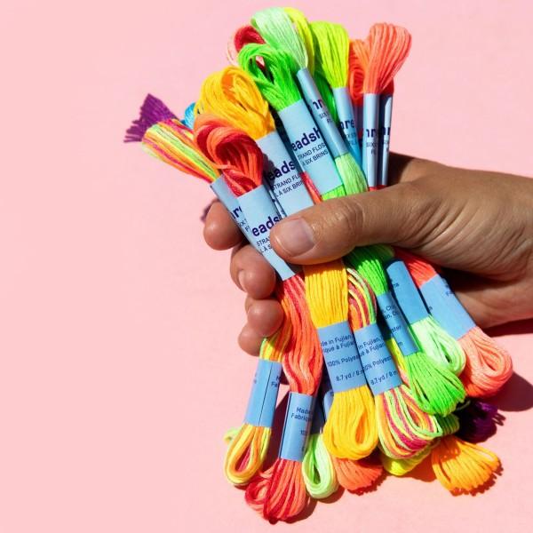 Pack de fils coton Bracelet brésilien - Néon - 24 pcs - Photo n°3