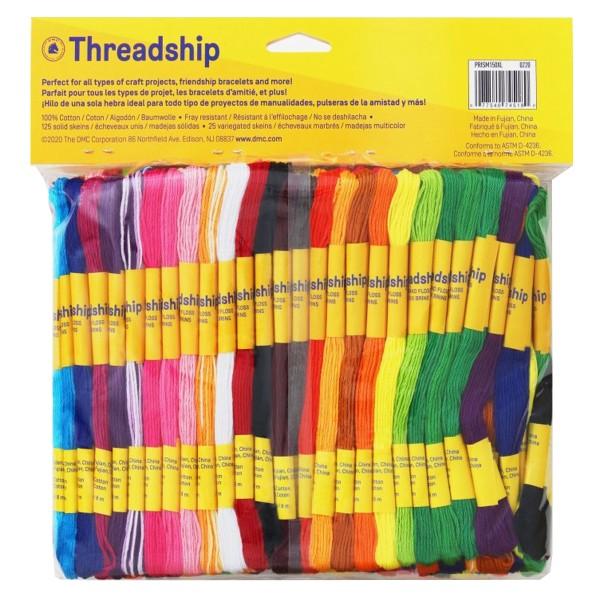 Pack de fils coton multi-brins - Bracelet brésilien - 150 pcs - Photo n°2