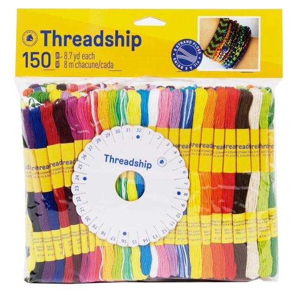 Pack de fils coton multi-brins - Bracelet brésilien - 150 pcs - Photo n°1
