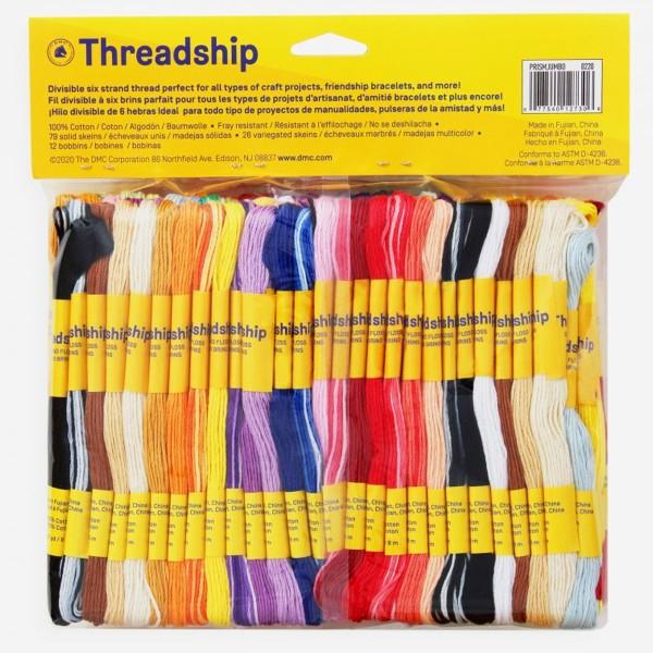 Pack de fils coton multi-brins - Bracelet brésilien - 105 pcs - Photo n°2