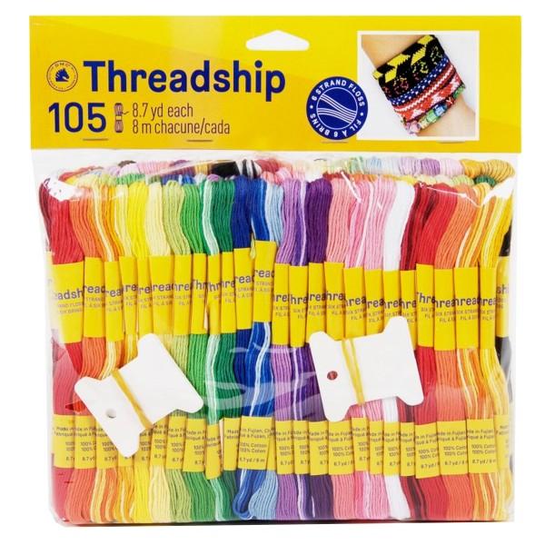 Pack de fils coton multi-brins - Bracelet brésilien - 105 pcs - Photo n°1