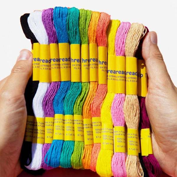 Pack de fils coton Bracelet brésilien - Pastel - 36 pcs - Photo n°2