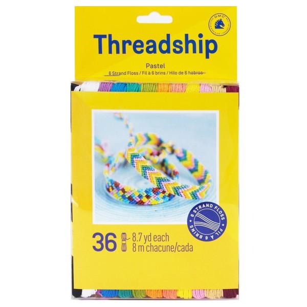 Pack de fils coton Bracelet brésilien - Pastel - 36 pcs - Photo n°1