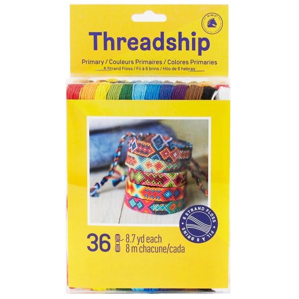 Pack de fils coton Bracelet brésilien - Couleurs primaires - 36 pcs - Photo n°1