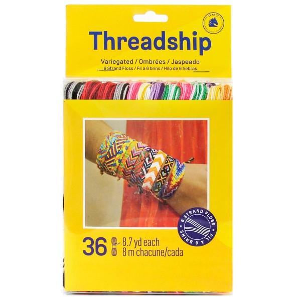 Pack de fils coton Bracelet brésilien - Couleurs dégradées - 36 pcs - Photo n°1