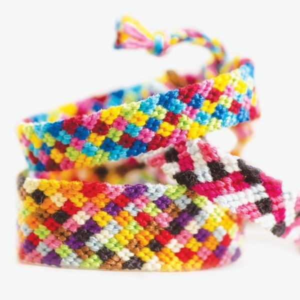 Pack de fils coton Bracelet brésilien - Couleurs Primaires et Kumihimo - 12 pcs - Photo n°2