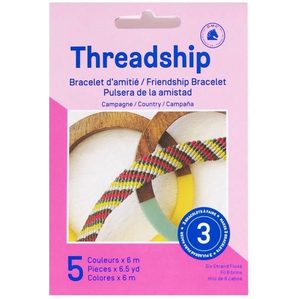 Mini kit créatif - 3 Bracelets brésiliens à faire - Campagne - 5 x 6 m - Photo n°1