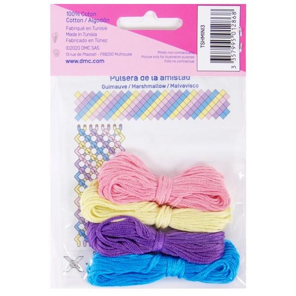 Mini kit créatif - 3 Bracelets brésiliens à faire - Marshmallow - 4 x 6 m - Photo n°2