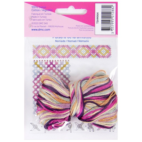 Mini kit créatif - 3 Bracelets brésiliens à faire - Nomade - 6 x 6 m - Photo n°2