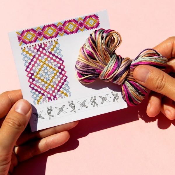 Mini kit créatif - 3 Bracelets brésiliens à faire - Nomade - 6 x 6 m - Photo n°3