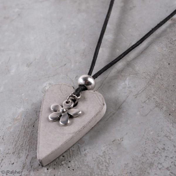 Kit béton pour bijou chaîne - Fleur - 45 cm - Photo n°2