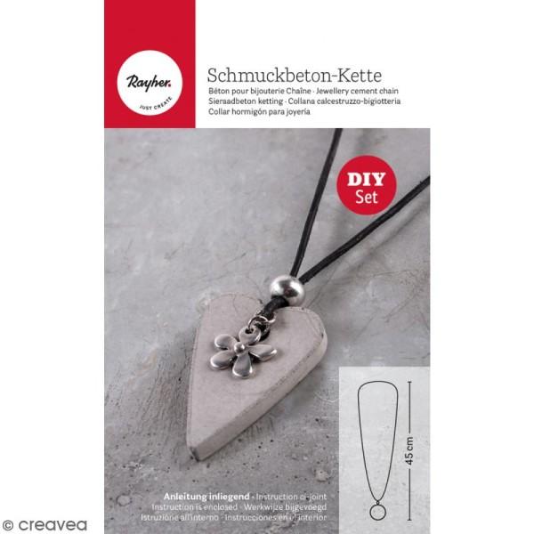 Kit béton pour bijou chaîne - Fleur - 45 cm - Photo n°1