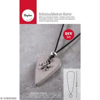 Kit béton pour bijou chaîne - Fleur - 45 cm