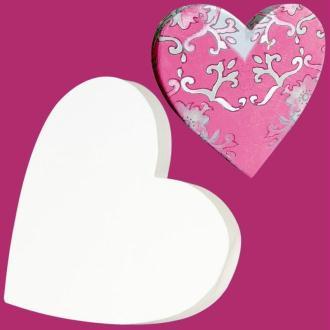 Coeur classique en carton plein 12 cm