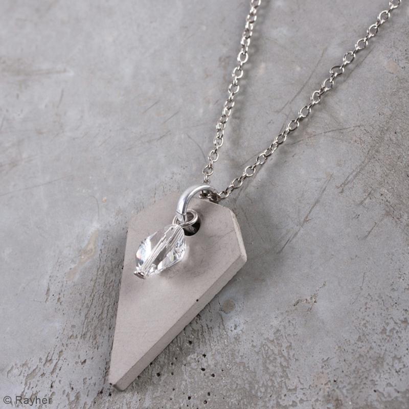 Kit béton pour bijou chaîne - Perle - 45 cm - Photo n°2