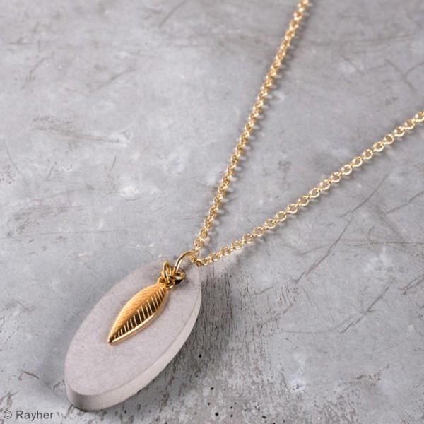 Kit béton pour bijou chaîne - Feuille - 45 cm - Photo n°2