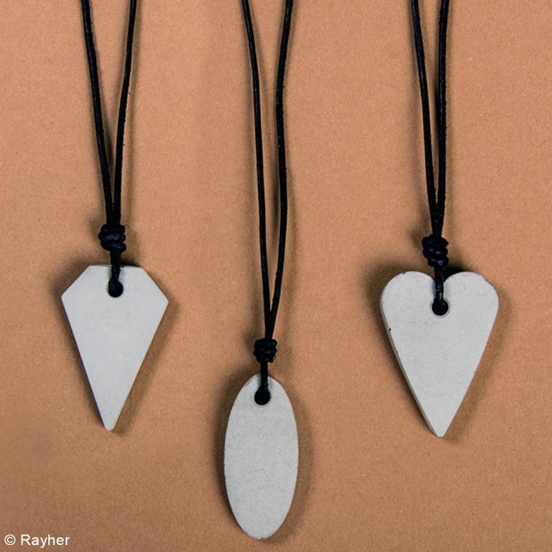 Kit de démarrage béton pour bijoux - 3 colliers - Photo n°2