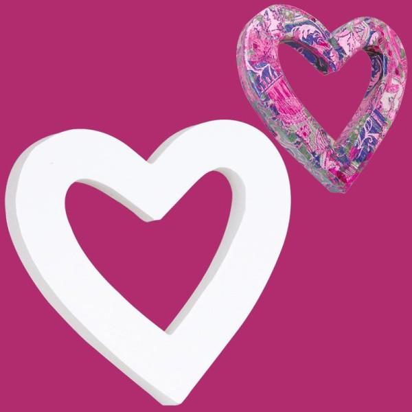 Coeur classique en carton évidé 12 cm - Photo n°1
