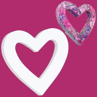 Coeur classique en carton évidé 12 cm