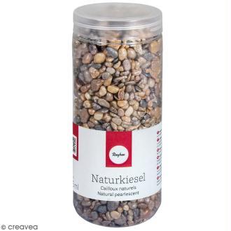 Cailloux naturels avec brillant nacré - 5 à 8 mm - 475 ml