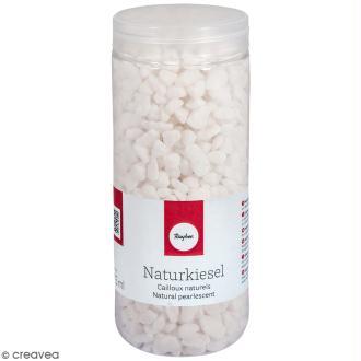 Cailloux naturels blancs - 5 à 8 mm - 475 ml