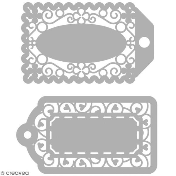 Matrice de découpe Etiquettes - 2 modèles - Photo n°1