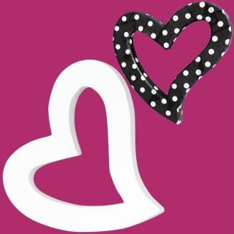 Coeur fantaisie en carton évidé 12 cm