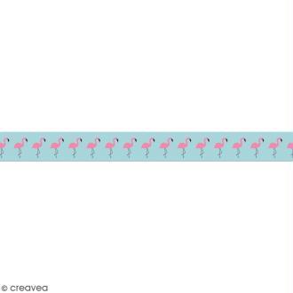 Masking tape en papier washi - Motif Flamants roses