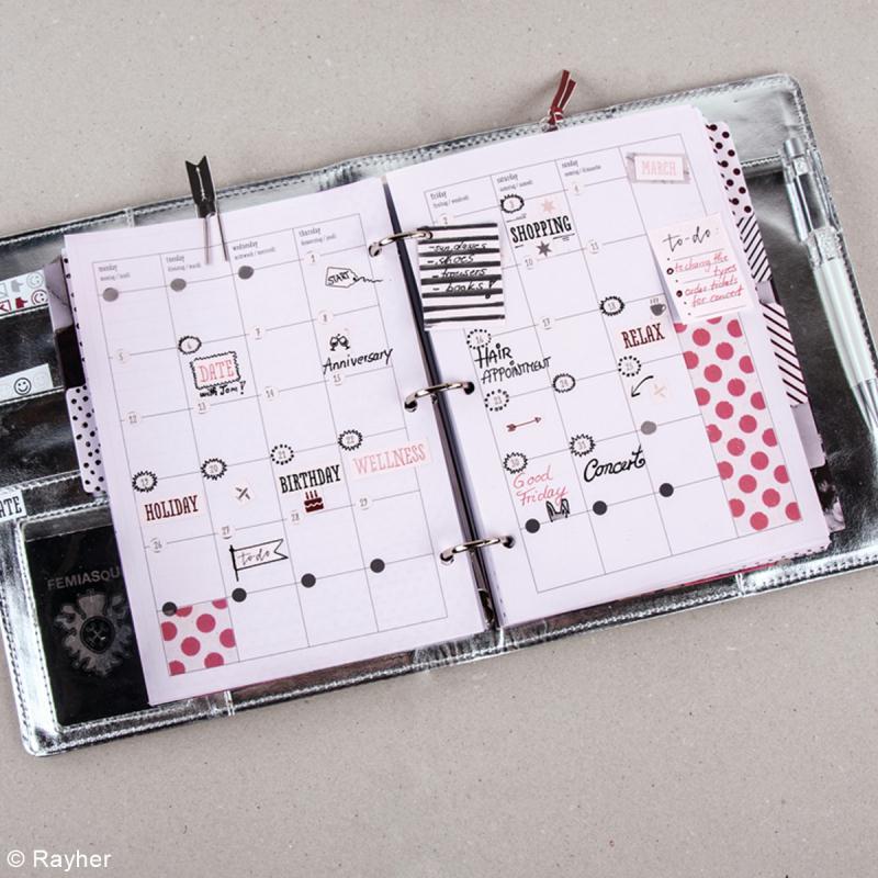 Planner A5 à personnaliser - Rose marbre et argenté - Photo n°3