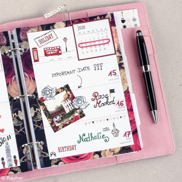 Kit pages My planner mensuel A5- Année 8 - Photo n°3