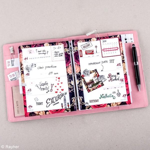 Kit pages My planner Aperçu mensuel et hebdomadaire A5 non datés - 10 motifs différents - Photo n°3