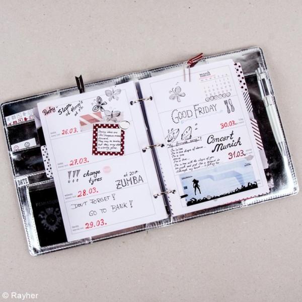 Kit pages My planner Aperçu mensuel et hebdomadaire A5 non datés - 10 motifs différents - Photo n°5