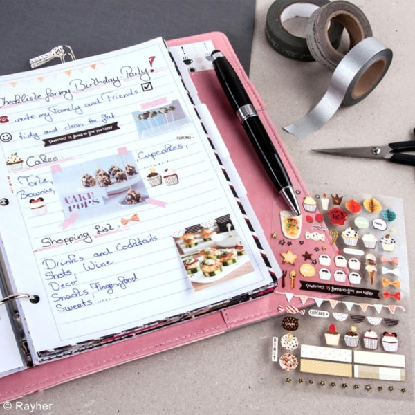 Kit pages My planner - pages A5 perforées imprimées lignes - 24 pcs - Photo n°3