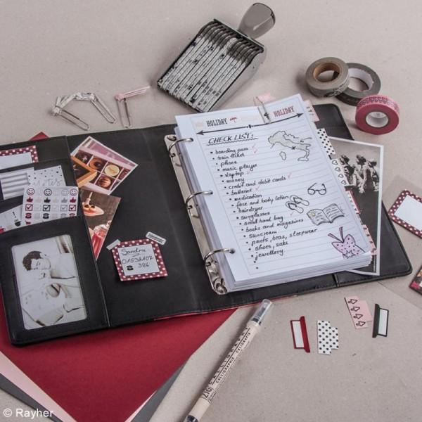 Kit pages My planner - pages A5 perforées imprimées lignes - 24 pcs - Photo n°4