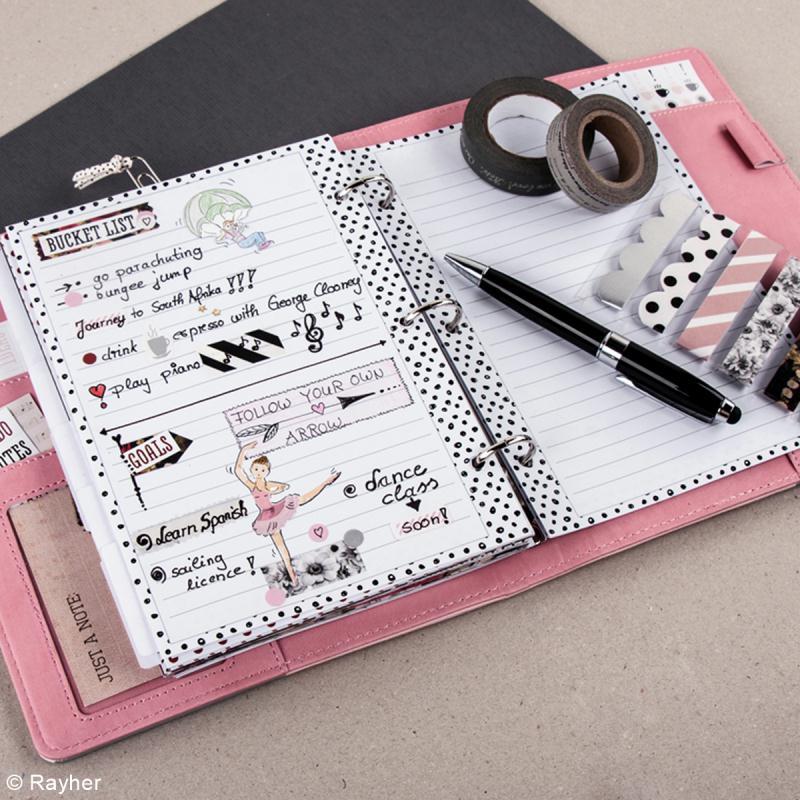 Kit pages My planner - pages A5 perforées imprimées lignes - 8 motifs - 24 pcs - Photo n°3