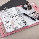 Kit pages My planner - pages A5 perforées imprimées lignes - 8 motifs - 24 pcs - Photo n°2