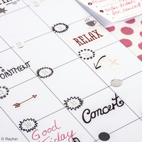 Stickers chiffres et mois My planner - Photo n°3