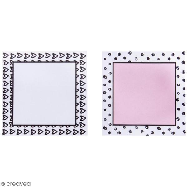 Set de Mémos adhésifs - Pois et coeurs - 2 blocs - Photo n°2