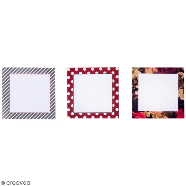 Set de Mémos adhésifs - Fleurs, coeurs et rayures - 3 minis blocs - Photo n°2