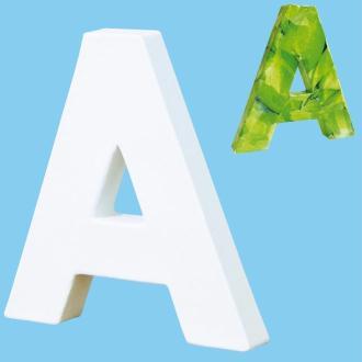 Lettre en carton mini 12 cm A