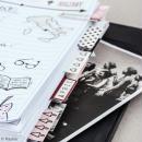 Set d'onglets adhésifs - Argent, noir et rose - 12 pcs - Photo n°2