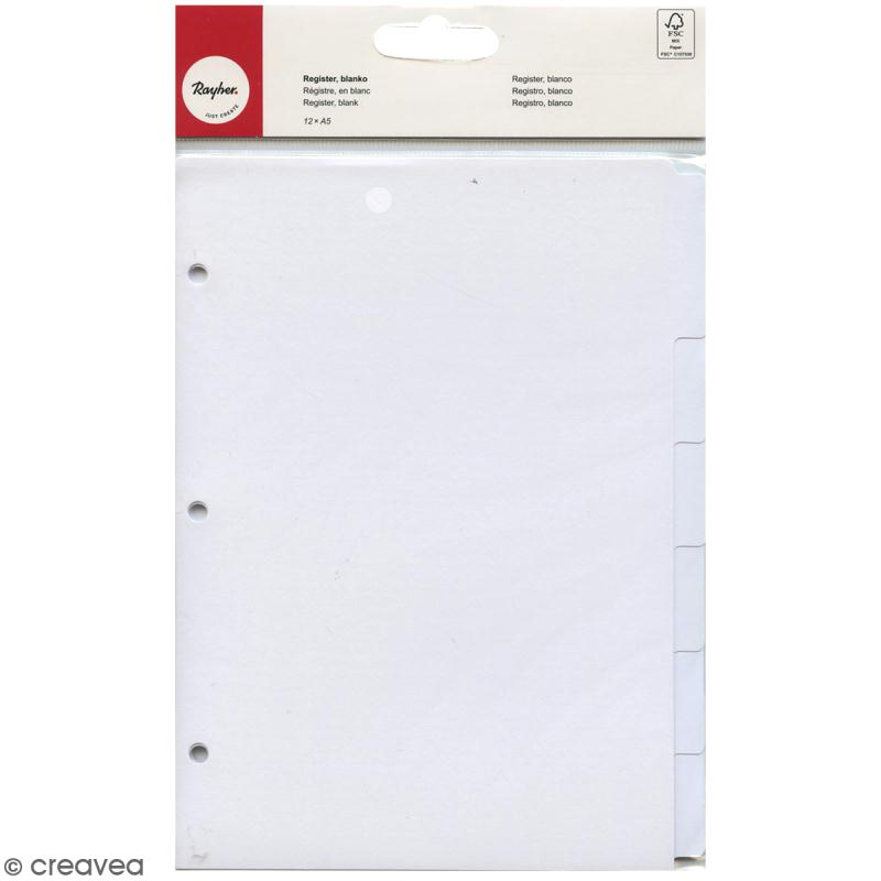 Intercalaires A5 My planner Rahyer - Blanc - 12 pcs - Photo n°1