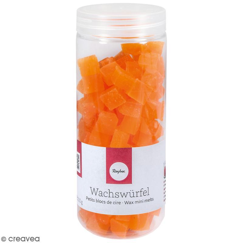 Petits blocs de cire à bougie - Orange - 200 g - Photo n°1