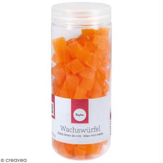 Petits blocs de cire à bougie - Orange - 200 g