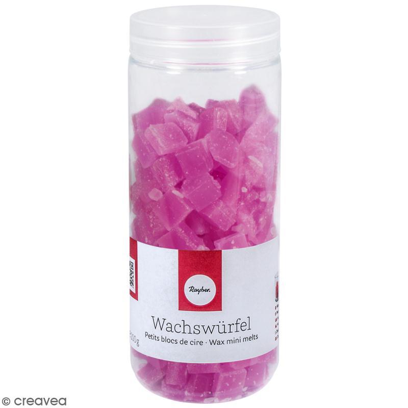 Petits blocs de cire à bougie - Violet - 200 g - Photo n°1