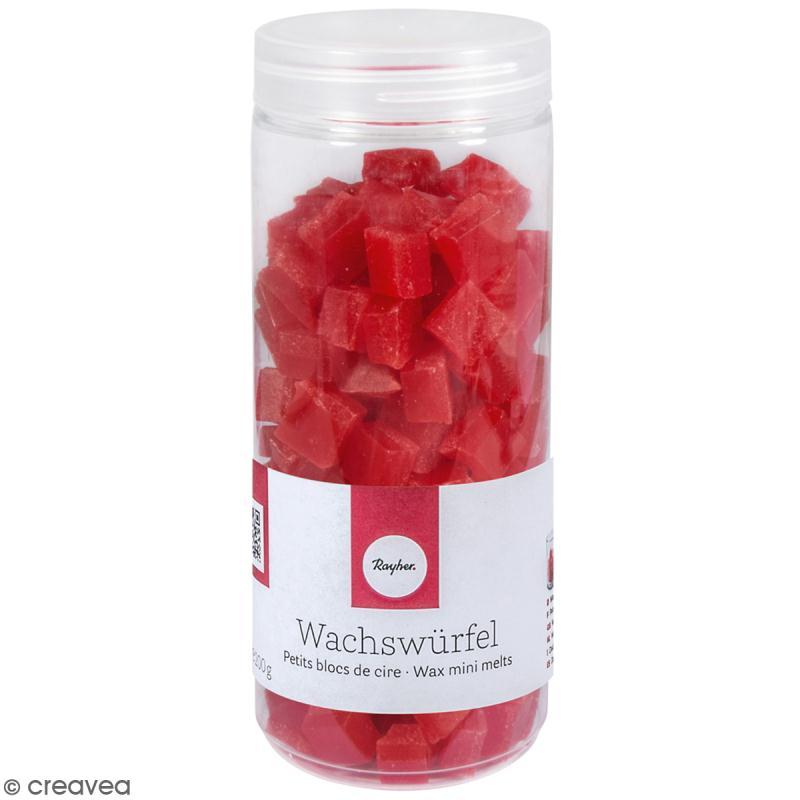 Petits blocs de cire à bougie - Rouge  - 200 g - Photo n°1