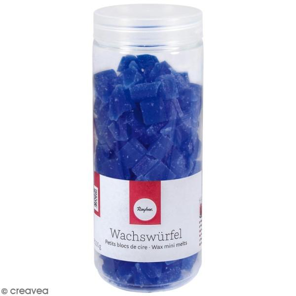 Petits blocs de cire à bougie - Bleu - 200 g - Photo n°1