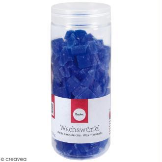 Petits blocs de cire à bougie - Bleu - 200 g
